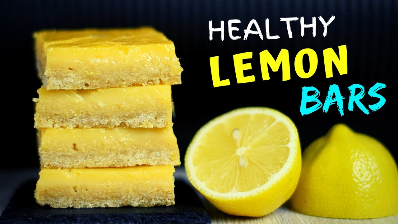 Easy Healthy Lemon Bars (5 ingredients!)