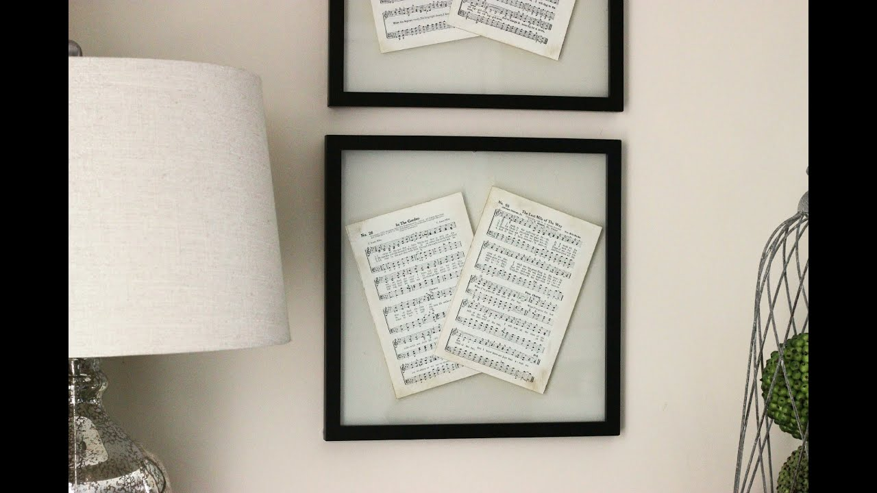 DIY Wall Decor - Pressed Glass Frame - YouTube