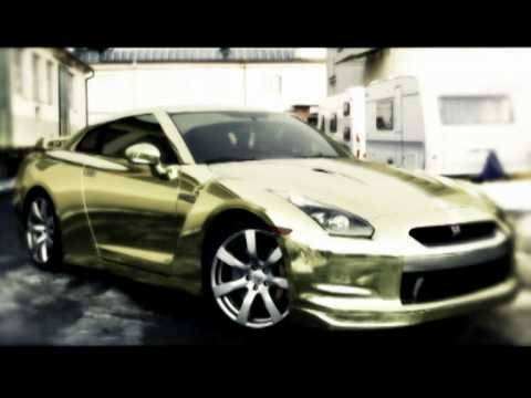 nissan gtr gold chrome total wrap by tintekmpg  YouTube
