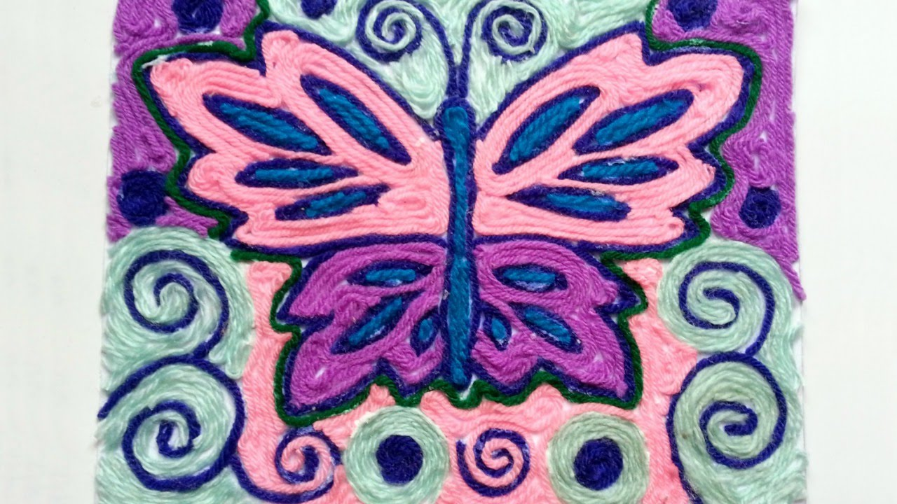 Design Yarn Art how to create a pretty yarn art of butterfly diy crafts tutorial guidecentral