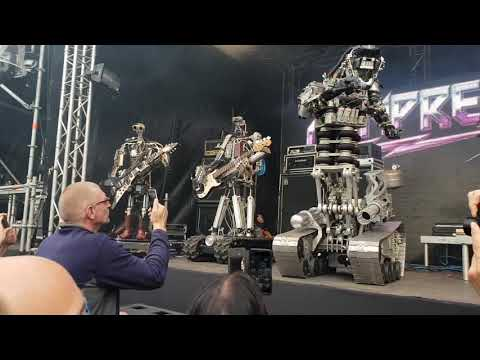 Compressorhead, live at Gogbot 2018 -  song: Compressorhead