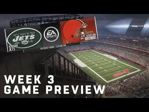 Jets vs Browns Madden 19 Simulation  Week 3 Game Preview  NFL