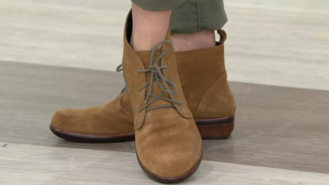 d6796186eda7 Naot Leather or Suede Lace-up Ankle Boots - Levanto on QVC - YouTube