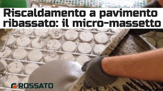 Massetto per impianto radiante ribassato (it)