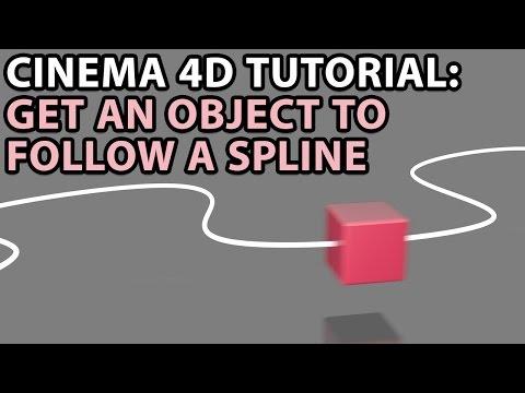 Cinema 4D Tutorial: Get an object to follow a spline