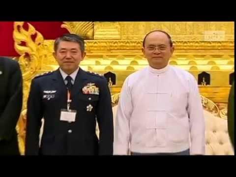 mitv - Japan-Myanmar Coop: President Met Japan's Army Chief