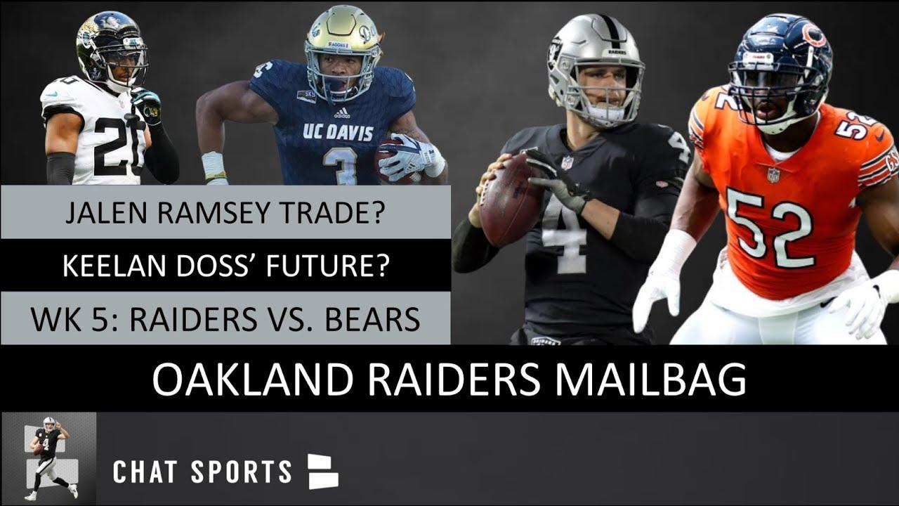 finest selection d1b54 89d2d Raiders Rumors On A Jalen Ramsey Trade, Raiders Vs. Bears Prediction &  Keelan Doss' Future | Mailbag