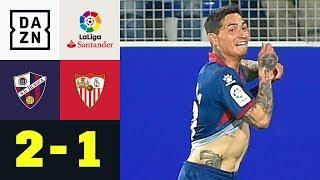 90+8! Nachspielzeit-Albtraum für Sevilla: Huesca - FC Sevilla 2:1 | La Liga | DAZN Highlights