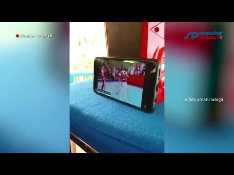 Warga NTT Nonton Amoreus Tarung Derajat di PON XX Bermodal Pulsa 5GB