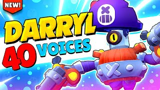 NEW! DARRYL All 40 Voice Lines u0026 Animations with Captions | Brawl Stars Update