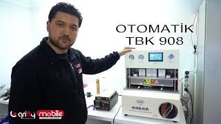Ekran Tamir makinesi TBK 908 ile presleme vakumlama nasıl yapılır?