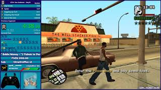 GTA San Andreas Any% Speedrun - Hugo_One Twitch Stream - 8/20/2018