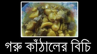 Kathaler Bichi Diye Gorur Mangsho  গরুর মাংস দিয়ে কাঁঠালের বিচি। Beef With Jack-fruit Seeds