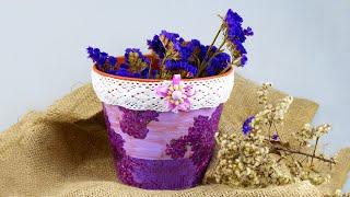 Декупаж кашпо для цветов своими руками(Как красиво задекорировать цветочный горшок своими руками? В этом мастер-классе мы сделаем нарядное кашпо..., 2016-06-18T13:06:02.000Z)
