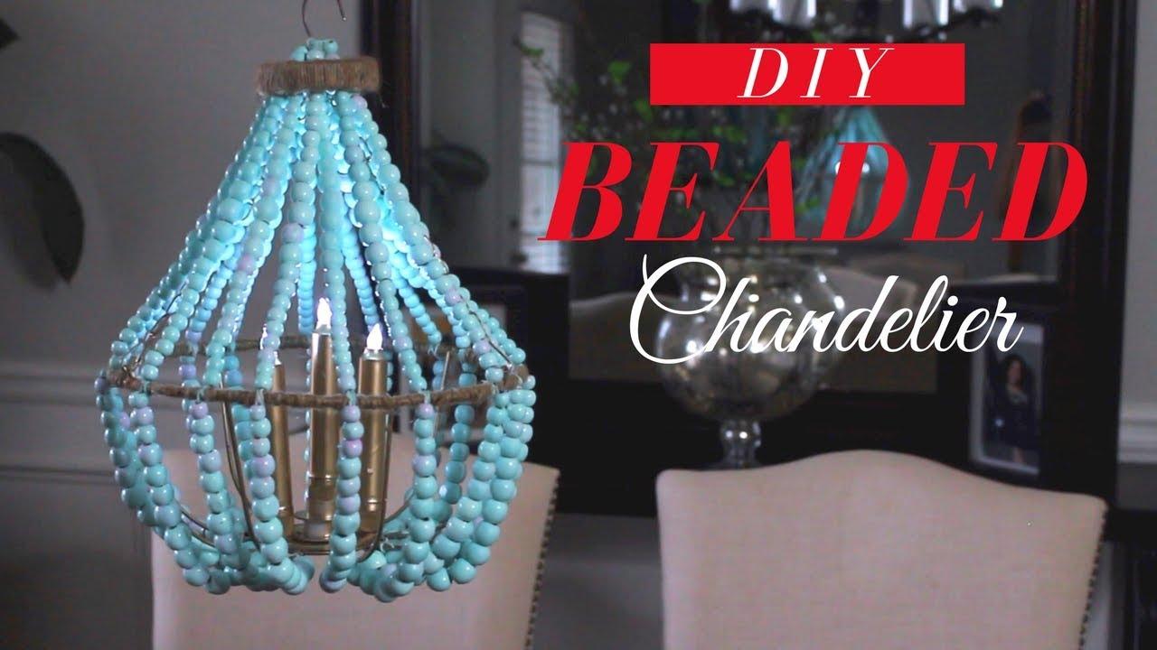 DIY BEADED CHANDELIER | DOLLAR TREE ROOM DECOR - YouTube