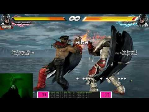 Tekken 7 Training Mode | Let's Learn Devil Jin