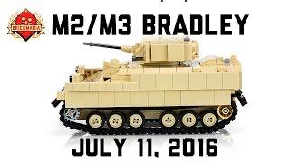 new release m2 m3 bradley custom military lego