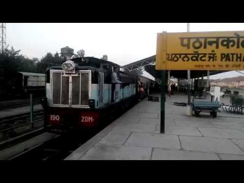 Toy Train leaving for Jogindernagar from Pathankot Station