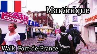 Martinique Island  Walking in FortdeFrance the Capital 2017 4K (12)