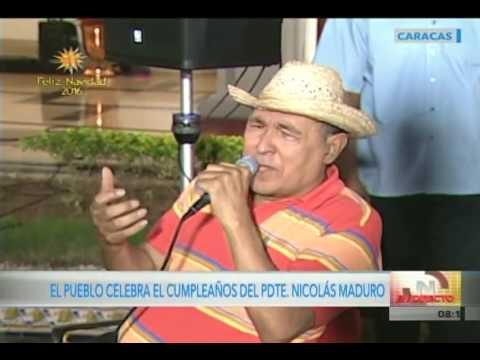 Francisco Pacheco, Gualberto Ibarreto, Amaranta y otros cantan cumpleaños 54 a Nicolás Maduro