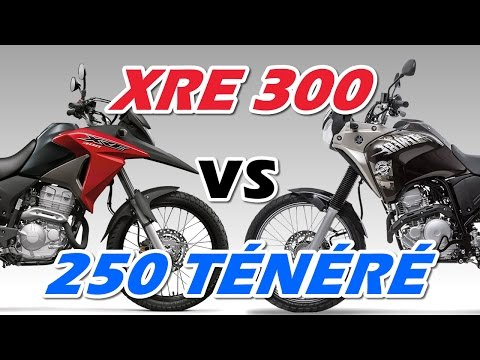 Comparação Honda XRE 300 e Yamaha 250 Ténéré 2016 - Motorede