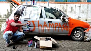 Painting full car with spray cans!!