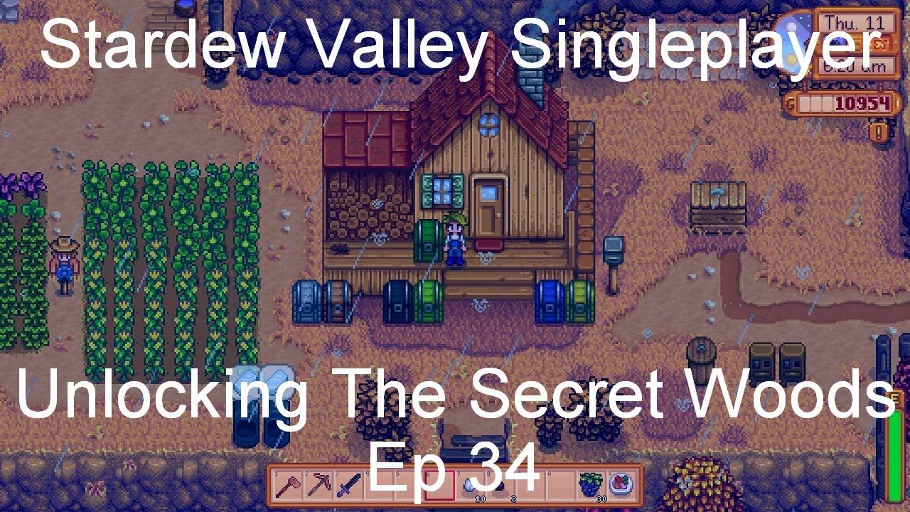 Unlocking The Secret Woods - Stardew Valley Singleplayer [Ep 34]