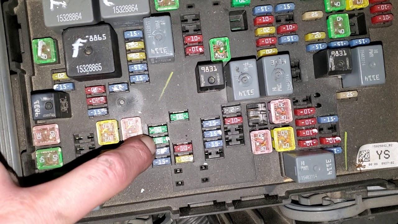 2007 gmc yukon fuse box 2007 gmc yukon denali radio fuses youtube  2007 gmc yukon denali radio fuses youtube