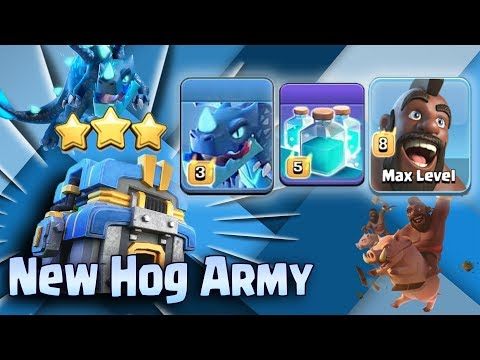 New TH12 Hog Electro Clone Attack Strategy 2018! New Hog Army Smashing 3 Star 3 inferno TH12 Bases