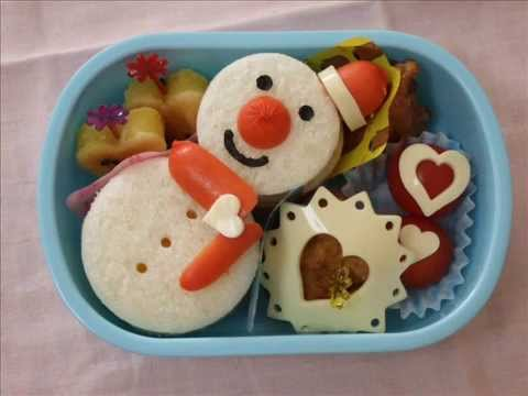 bento lunch box snowman youtube. Black Bedroom Furniture Sets. Home Design Ideas