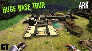 Huge Solo BASE TOUR   Hidden Lake Build   ARK: Survival Evolved