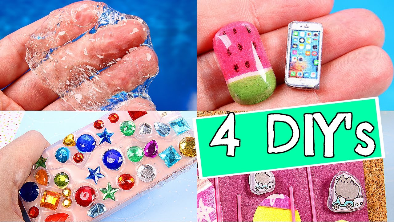 4 DIYs: CLEAR SLIME,  MINI PHONE CASE, and more