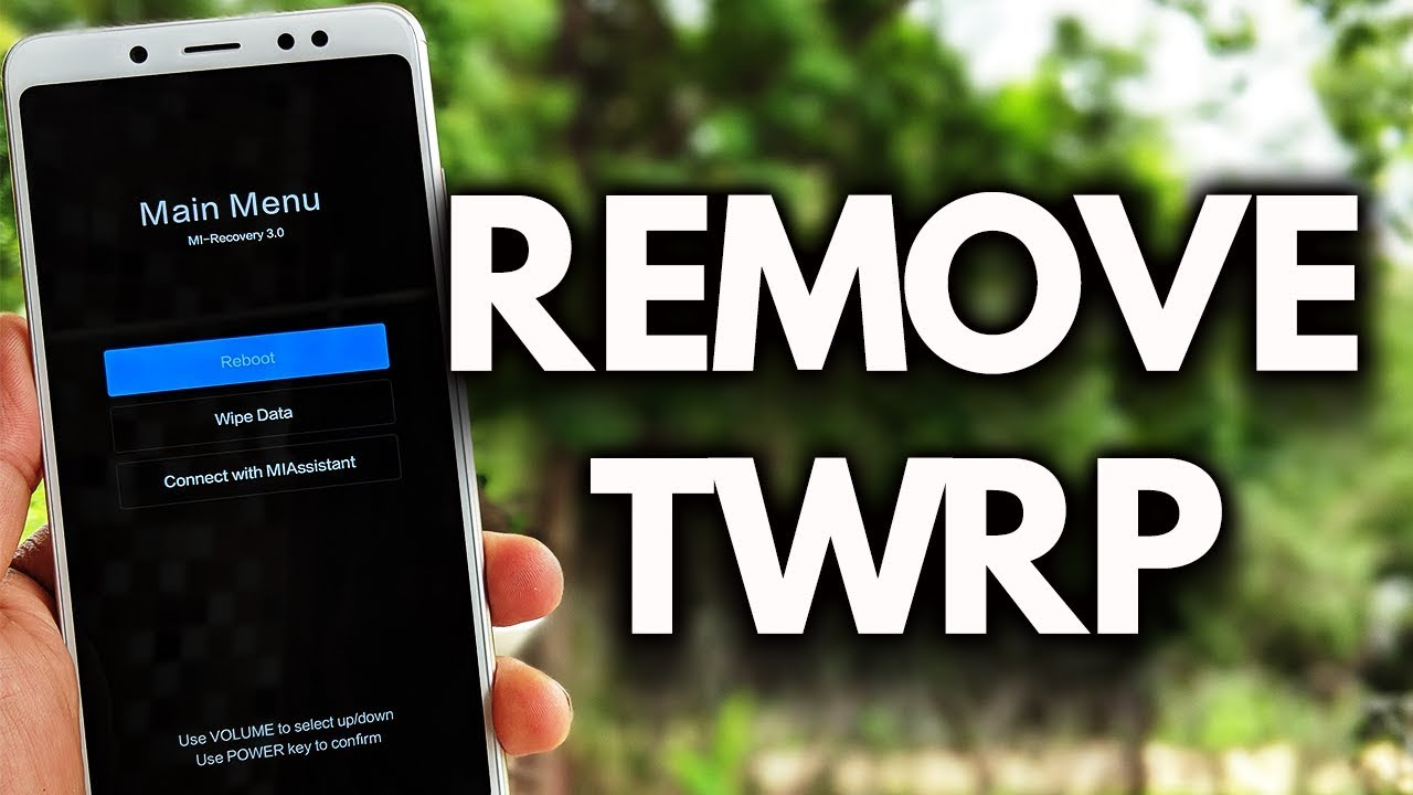REMOVE TWRP Recovery & Install STOCK Recovery XIAOMI