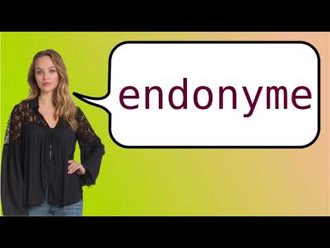 How to say 'endonym' in French?
