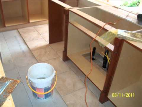 How to Tile a Kitchen Floor MARCH 2011 - YouTube