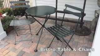 Furniture Designhouse European Bistro Table & Chairs- Thegardengates.com
