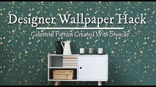 How To Stencil a Celestial Wall