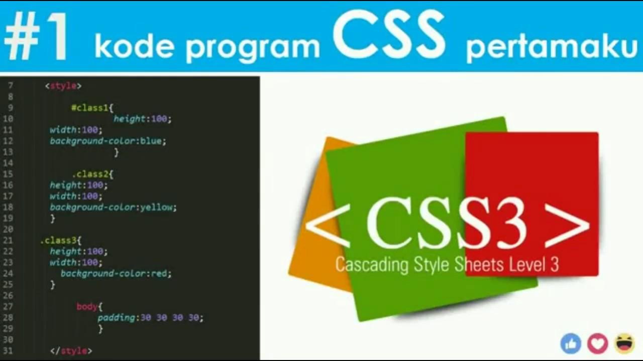 Cara Membuat Kode CSS Basic Pemrograman