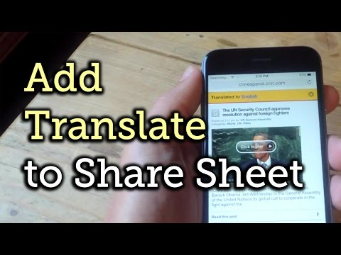 Get Translations for Foreign Languages in Safari for iOS 8 [How-To]