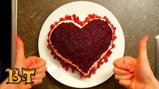Салат Красный бархат. Сытный салат со свеклой без мяса