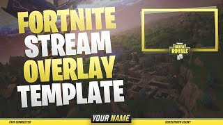 FREE Fortnite Stream Overlay Template Download! + Photoshop Tutorial