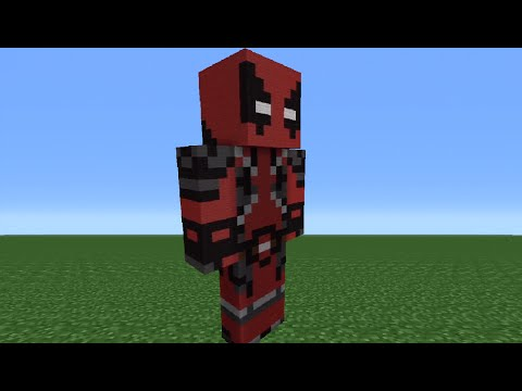 Minecraft Tutorial: How To Make A Deadpool Statue