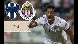 Monterrey vs Chivas 2-4 2018 Liga mx  Apertura Jornada 9 Goles