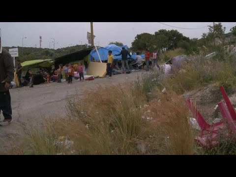 Refugees in Greece denounce Syria escalation