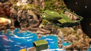 space museum tenq thunderbirds are go tracy island diorama