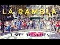 LA RAMBLA BARCELONA 1 MES DESPUÉS | Exclusivo @Whiox | Floristerías, Puestos y Pavimento Miró