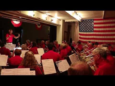 Blawenburg Band 4th Of July Concert At Yardley, PA Performing Semper Fidelis