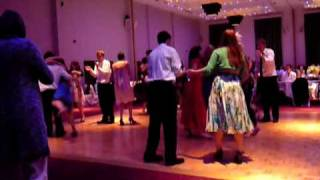 Wedding Ceilidh, dancing the Cumberland Square 8 with the Pluck & Squeeze Band
