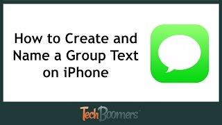 Wie zu Erstellen und benennen Sie eine Gruppe Text auf dem iPhone
