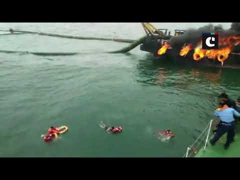 29 crew members of Offshore Support Vessel Coastal Jaguar jumped into water in Visakhapatnam